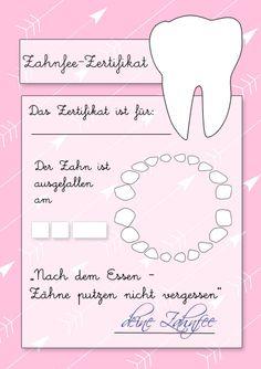 Zahnfeezertifikat zum Ausdrucken