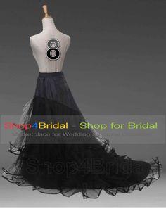 White/Black Bridal Petticoat Crinoline Underskirt Hoop/Hoopless/Mermaid/Fishtail | eBay