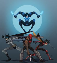 The Bat Family by EricGuzman on deviantART
