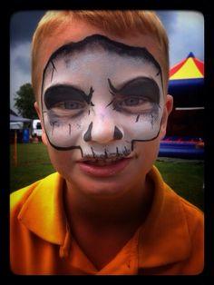 skull schmink facepaint Gallerij - De Kindercarrousel
