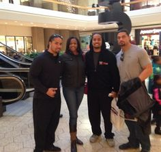 Joe Anoa'i (Roman Reigns) with his cousins Josh Fatu (Jey Uso) and Jon Fatu (Jimmy Uso)