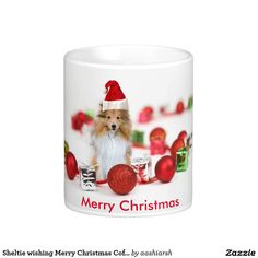 #gift this #nice #Sheltie wishing #MerryChristmas #coffee #tea #mug  to your #friends   #HolidaySeason price lower than on #amazon and #ebay #bestbuy #deals #newyears   #lowestprice #celebrate #InternationalTeaDay