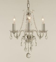 """possible mini chandelier for the """"loo closet"""""""
