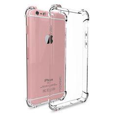Floveme 전화 iphone 7 7 plus 6 6 초 case 크리스탈 클리어 소프트 tpu 실리콘 젤 펀다 iphone 6 plus 6 s plus coque 카파