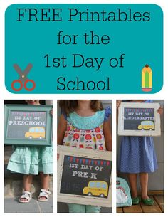 Free Printables for the 1st Day of School || The Chirping Moms