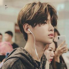 Korean Boys Hot, Korean Boys Ulzzang, Korean Men, Tomboy Hairstyles, Cute Hairstyles, Medium Hair Styles, Short Hair Styles, Asian Haircut, Androgynous Hair