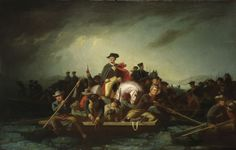 FWashington Crossing the Delaware 1856-1871, oil on canvas, American George Caleb Bingham