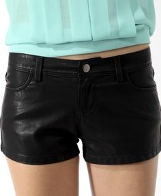 Faux Leather Zip Shorts | FOREVER21 - 2000048581