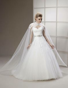 wedding dress with cape - Google Search