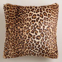 Leopard Faux Fur Throw Pillow