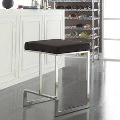 Armen Living Sonata 26 In Black Counter Height Stool With