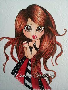 Dollyz Cardz & Framed Imagez by Denise : RECENT Saturated Canary girls ...