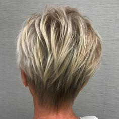 50 Layered Blonde Balayage Pixie