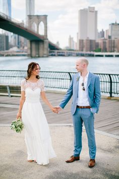 Photography: Mirelle Carmichael Photography - mirellecarmichael.com  Read More: http://www.stylemepretty.com/2015/01/07/destination-elopement-in-brooklyn/