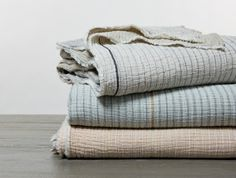 Woven from pure organic cotton, our Topanga blanket is whimsical, drapey and lightweight. Soft Colors, Neutral Colors, Duvet, Bedding, Chloe, Wool Dryer Balls, Textiles, Up House, Cotton Textile