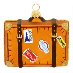 Travel Suitcase Ornament