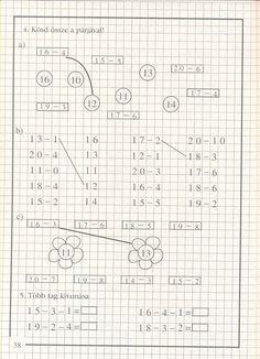 Albumarchívum Math Practice Worksheets, Math Classroom, Maths, Math Practices, Homeschool Math, Math Facts, Math For Kids, English Vocabulary, Mathematics