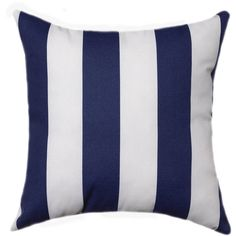 Outdoor Pillow Covers 11 Sizes Decorative Pillows Outdoor Navy Blue... (18 CAD) ❤ liked on Polyvore featuring decorative pillows, grey, home & living and home décor