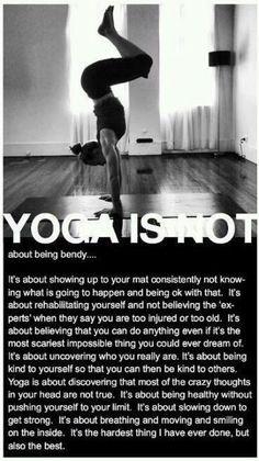 yoga is not....