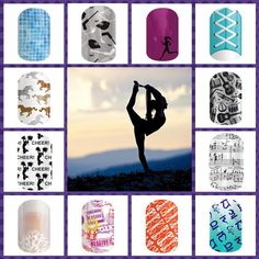 Sports & Hobbies: show what you like to do on your fingertips! Jamberry wraps   nail art   manicure   Spring Summer Catalog 2015   swimming   hockey   running   music   yoga   cheer   horses   travel   reading
