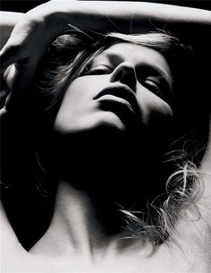Eva Herzigova by Sølve Sundsbø - she looks like Katharine Hepburn in this photo.