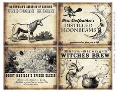 "@Kate Pearson-Halyburton How fun would these be to use as labels? Print them out on ""old timey"" looking paper."
