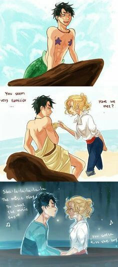 Percy Jackson and Annabeth Chase - disney version Prince Eric and Ariel
