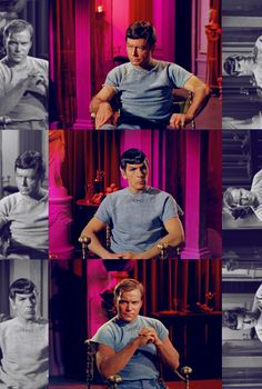 Kirk, Spock, and McCoy in Bread and Circuses (Star Trek)
