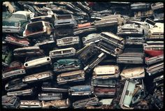 Escondido, California, April (Gene Daniels/National Archives/Records of the Environmental Protection Agency) Abandoned Cars, Abandoned Places, Abandoned Vehicles, Ombres Portées, Escondido California, Junkyard Cars, Danny Zuko, Automobile, Rust In Peace