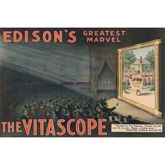 Buyenlarge 'Edison's Greatest Marvel--The Vitascope' by Raff & Gammon Vintage Advertisement