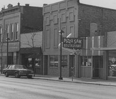 1980 Pizza Sams in downtown Alma, MI: Archival photographs.