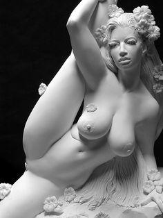 Young Contortionist | Siren' Reclining Female Contortionist Nude Sculpture Greek Hellenism ...