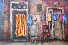 Karien Boonzaaier - Alice Art Gallery Clothes Lines, Art Gallery, Laundry, Alice, Illustration, Garden, Painting, Laundry Room, Art Museum