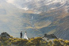 South Island High Country Wedding by Bayly and Moore in New Zealand. All the quest got flown up to this location in helicopters! BREATHTAKING