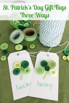 Repin: St Patricks Day Gift Tags - St. Patricks Day Crafts at ALittleClaireification.com #crafts #DIY #StPatricksDay
