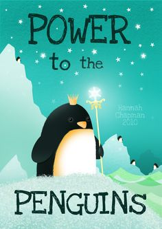 POWER to the PENGUINS!!! Penguin power is available in my deviantArt store as packs of cards, magnets, prints, mousepads and puzzles! Also available in my zazzle store as single greeting cards pin ...
