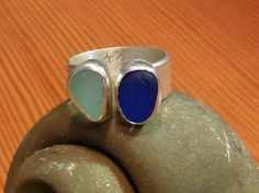 seaglass ring on etsy