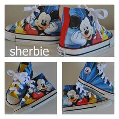 Sherbie.co.uk - Mickey Mouse custom Converse shoes, kids shoes £55.00 (http://www.sherbie.co.uk/mickey-mouse-converse/)