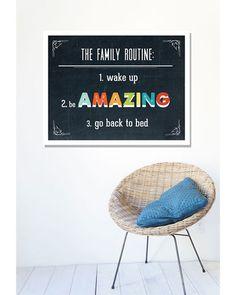 Family Routine Print