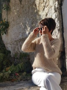 Spring knitwear. trends. Amazing mohair sweater. EstherTg