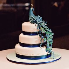 Wedding Cakes Pictures: Peacock Wedding Cakes