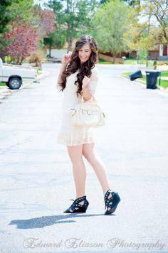 Coachella Lace Dress Outfit (bags, coachella, coachella look, coachella outfit, curly hair, giveaway, jewelry, lace dress, long pretty hair, macys, mall of style, mall of style jewelry, )