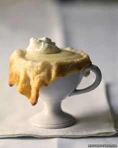 Eggnog Custard Cups ~ Cover chilled eggnog-flavored custard in flaky pate brisee for an elegant after-dinner treat.