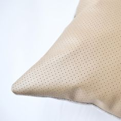 Image of NEW! Leather Dotty Cushion Cover - Square