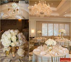 Elegant white and gold decor #WeddingWednesday