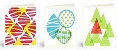 Bold Shapes Holiday Cards, set of 6. $16.00, via Etsy.
