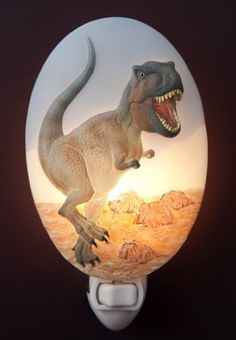 T_REX Dinosaur Night Light - Ibis & Orchid Design Nightlight Collection