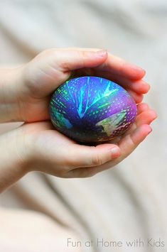 Tie dyed Easter eggs from Fun at Home with Kids