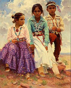 We Are The Children by r s riddick kK Native American Dress, Native American Children, Native American Pictures, Native American Wisdom, Native American Artwork, Native American Beauty, Native American Artists, American Indian Art, Native American History