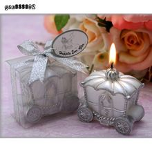 Décoration de mariage bougie faveur élégante citrouille chariot bougie cadeau romantique cadeaux de mariage(China (Mainland))